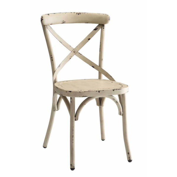 Cross White Chair