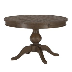 weathered pine round table