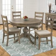 weathered pine round table2